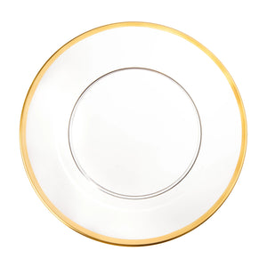 Acrylic Gold Rim Charger S/4
