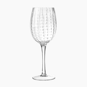 White Dots Wine Glass S/6