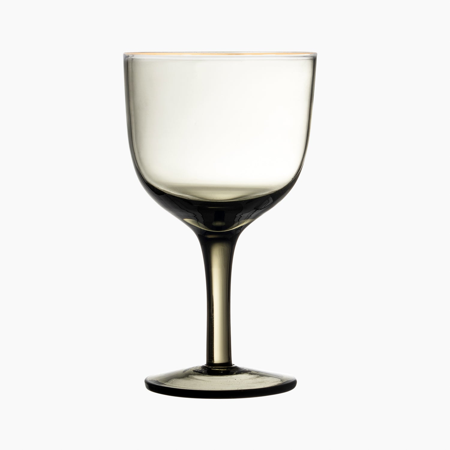 Wine Glass Gold Rim Grey S /6