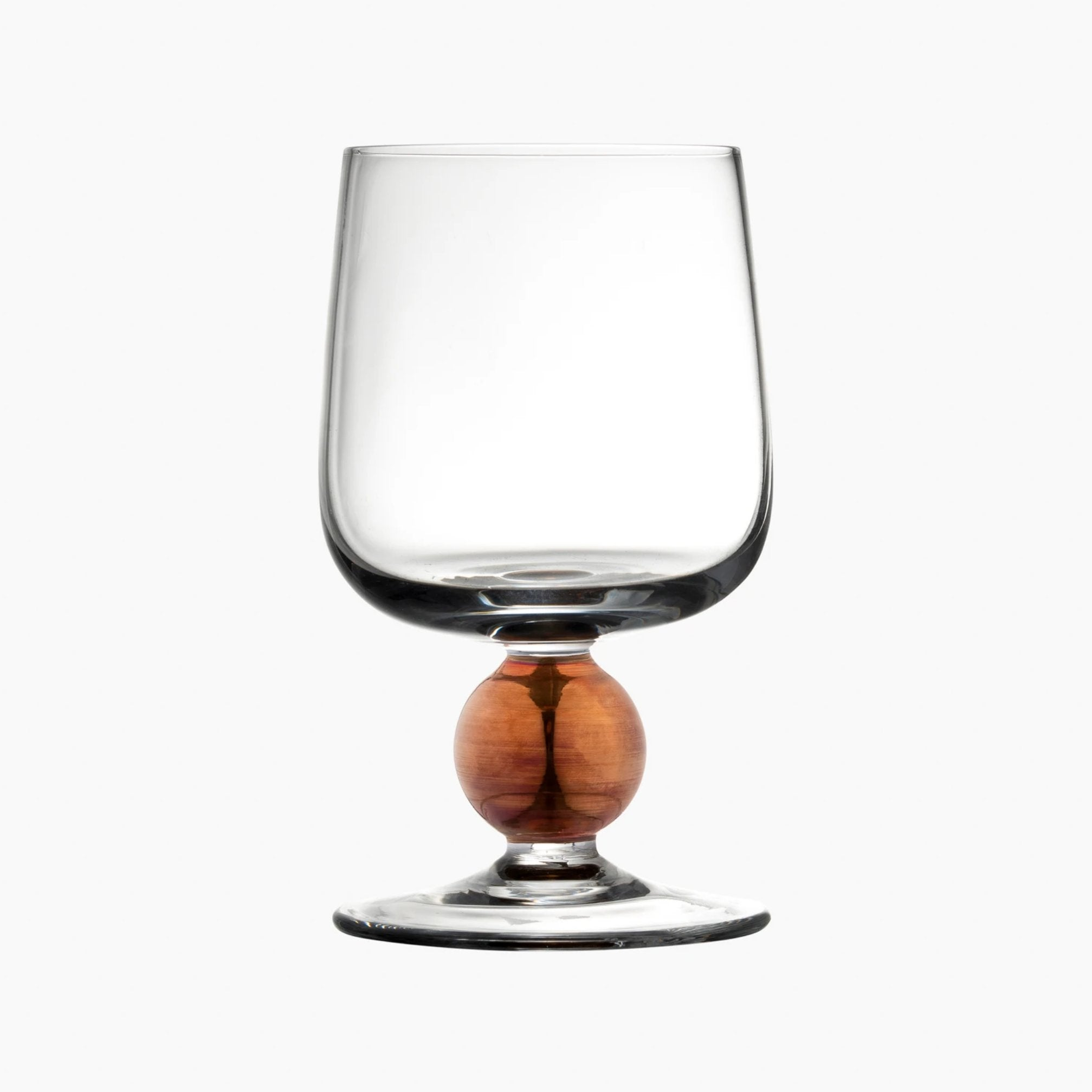 Oro Matte Rose Gold Wine Glass S/2