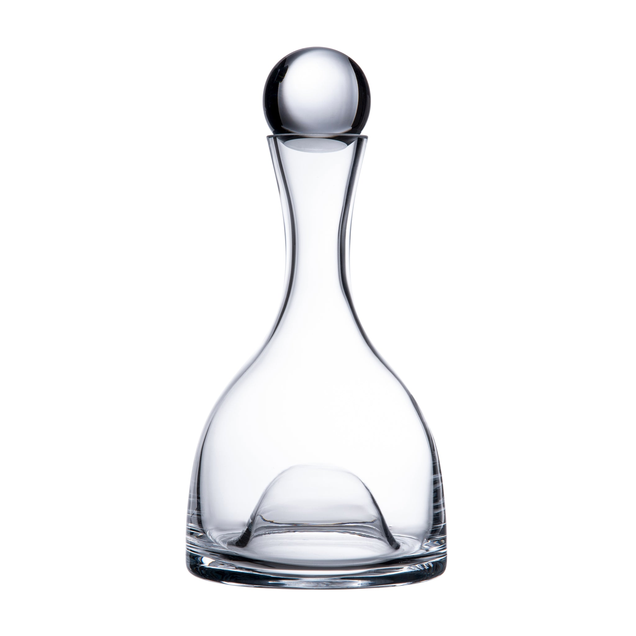 Glass Ball Top Wine Decanter