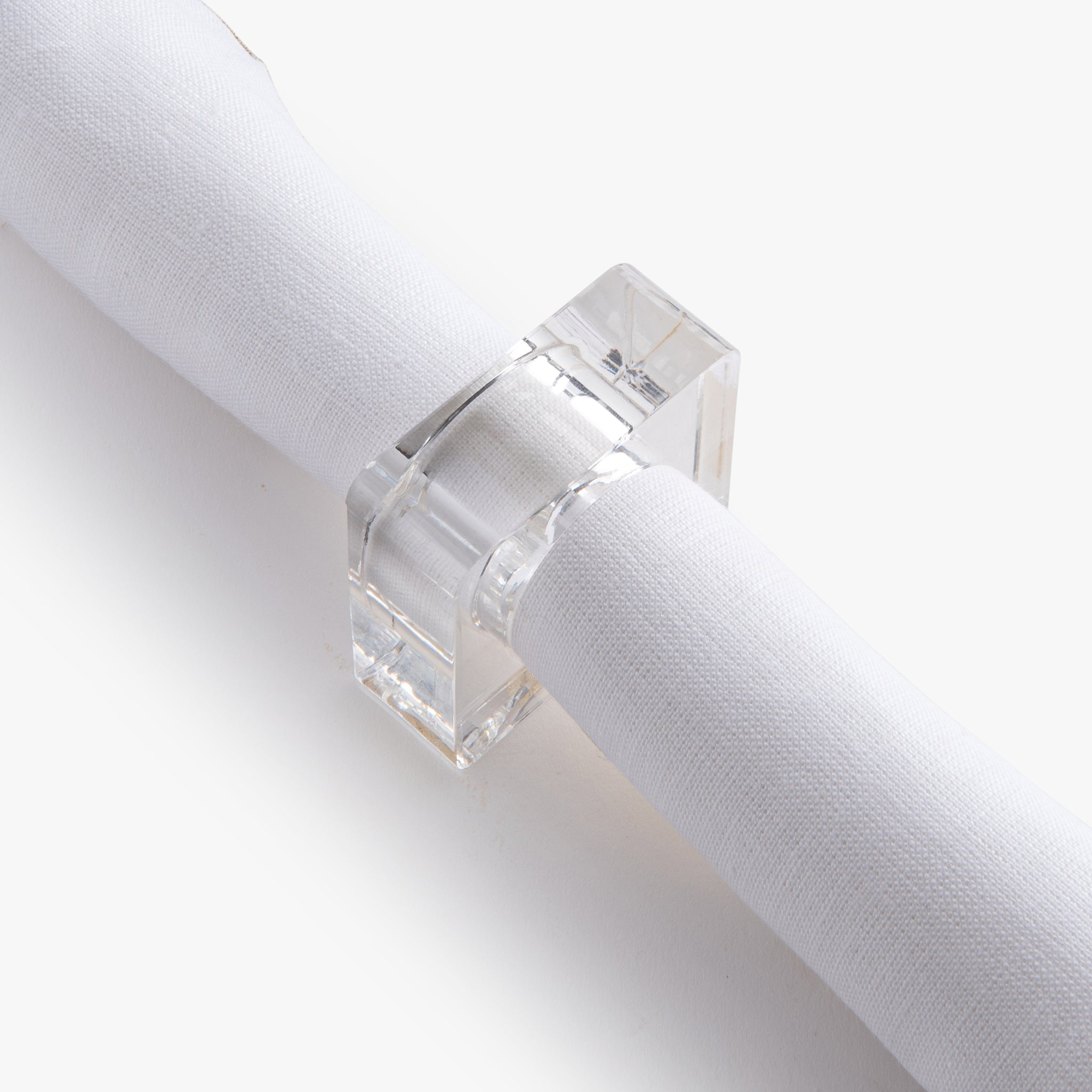 Acrylic Square Napkin Ring