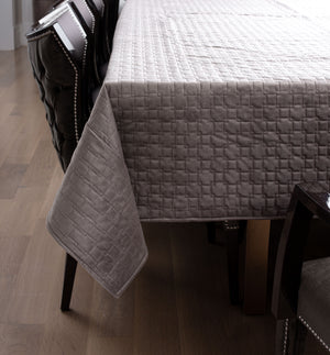 Grey Quilted Velvet Cloth