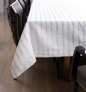 Metallic Abstract Line Tablecloth