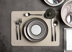Faux Leather Placemat S/6