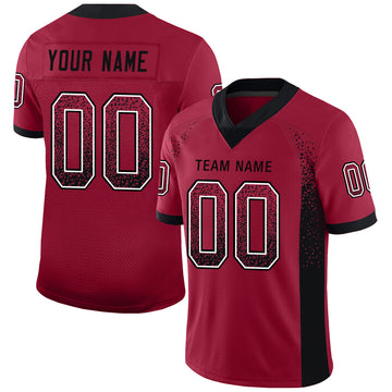Custom Cardinal Black-White Mesh Drift Fashion Football Jersey - Jersey