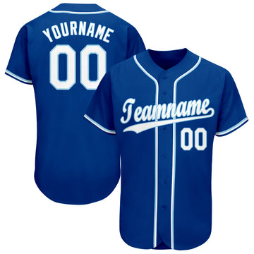 Custom Royal White-Light Blue Baseball Jersey - Jersey