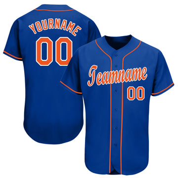 Custom Royal Orange-White Baseball Jersey - Jersey