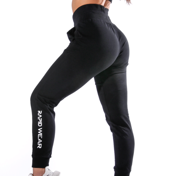 RapidWear - High Waist Basic Joggers (Sort)