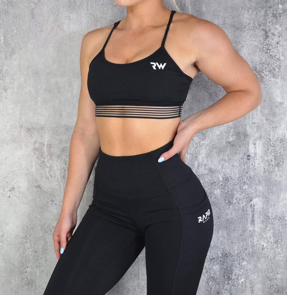 RapidWear - Energy Sports Bra (Sort)