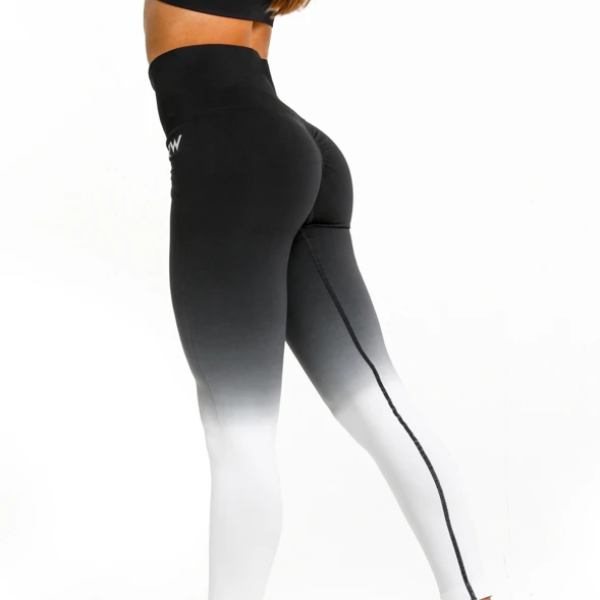 RapidWear - Ombre Seamless Leggings (Sort)