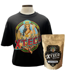 Limited: Xteca® Original Men's Tee (Black) & Bag of Coffee 12oz Medium Roast