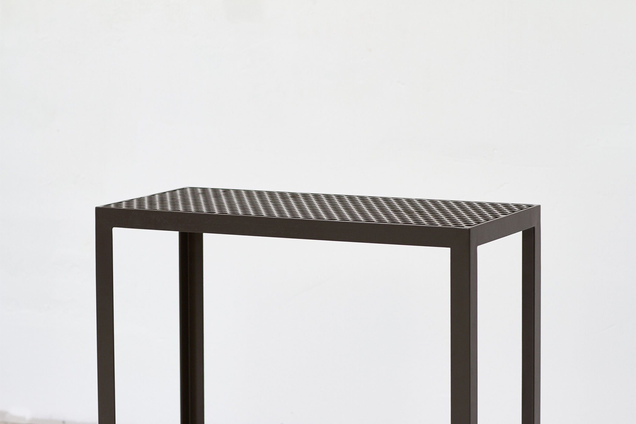 RAD Furniture's Perforated Entry Table - cropped
