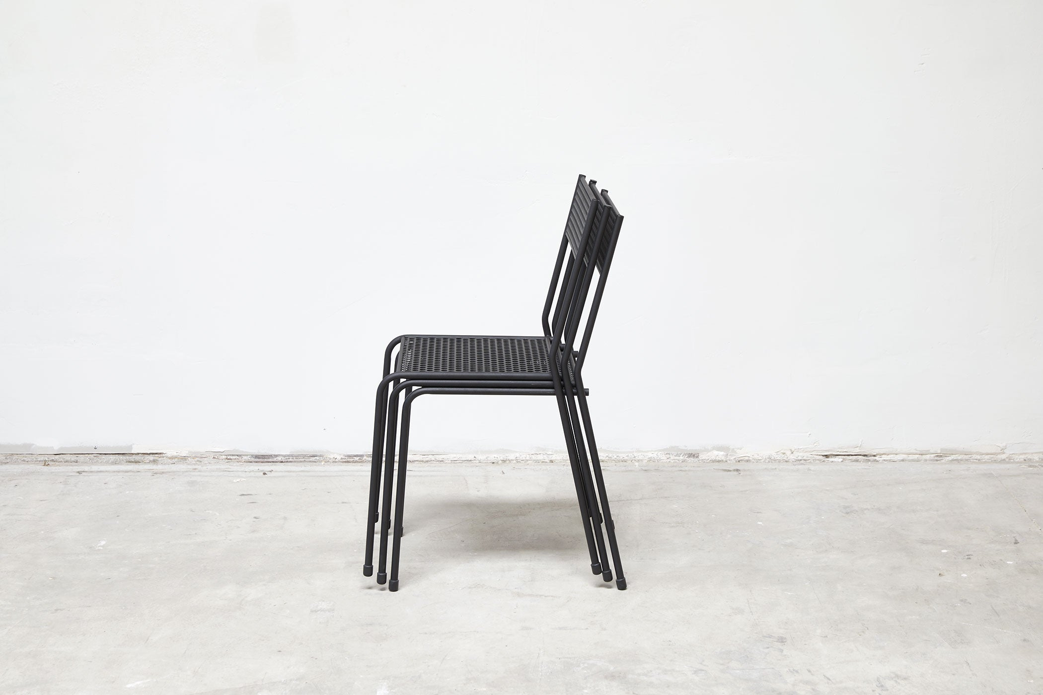 RAD Furniture's Perforated Cafe Chair - stacked