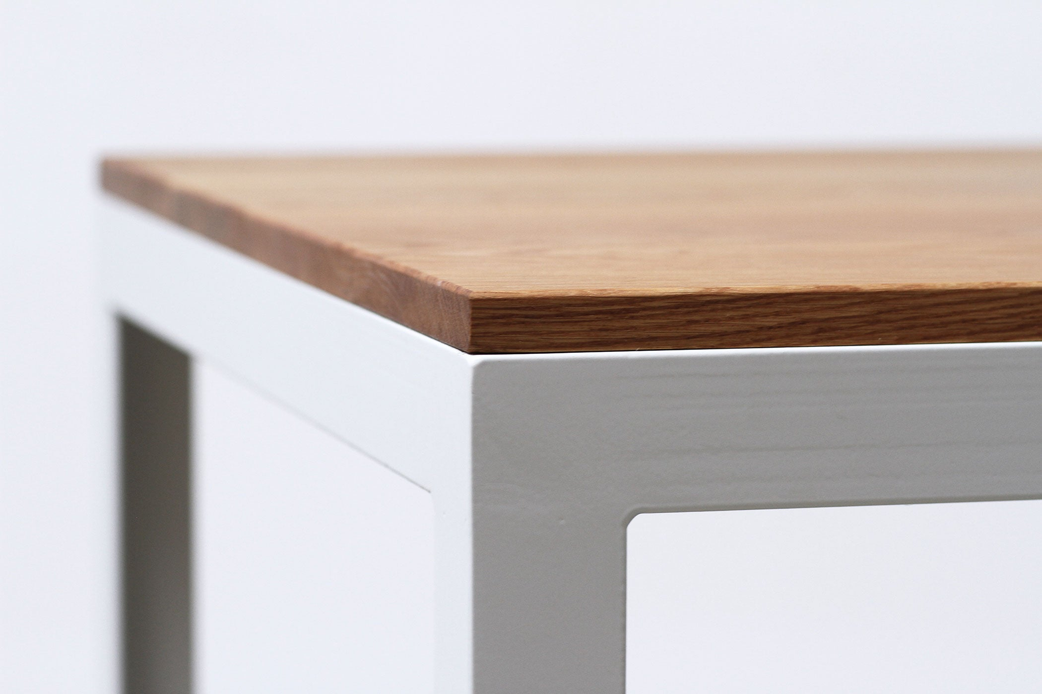 RAD Furniture's Solid Wood-top Cafe Table - detail
