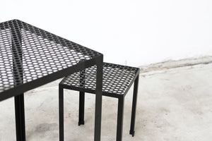 RAD Furniture's Perforated Cafe Table and Perforated Knockarounds