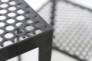 RAD Furniture's Perforated Cafe Table and Perforated Cafe Chair