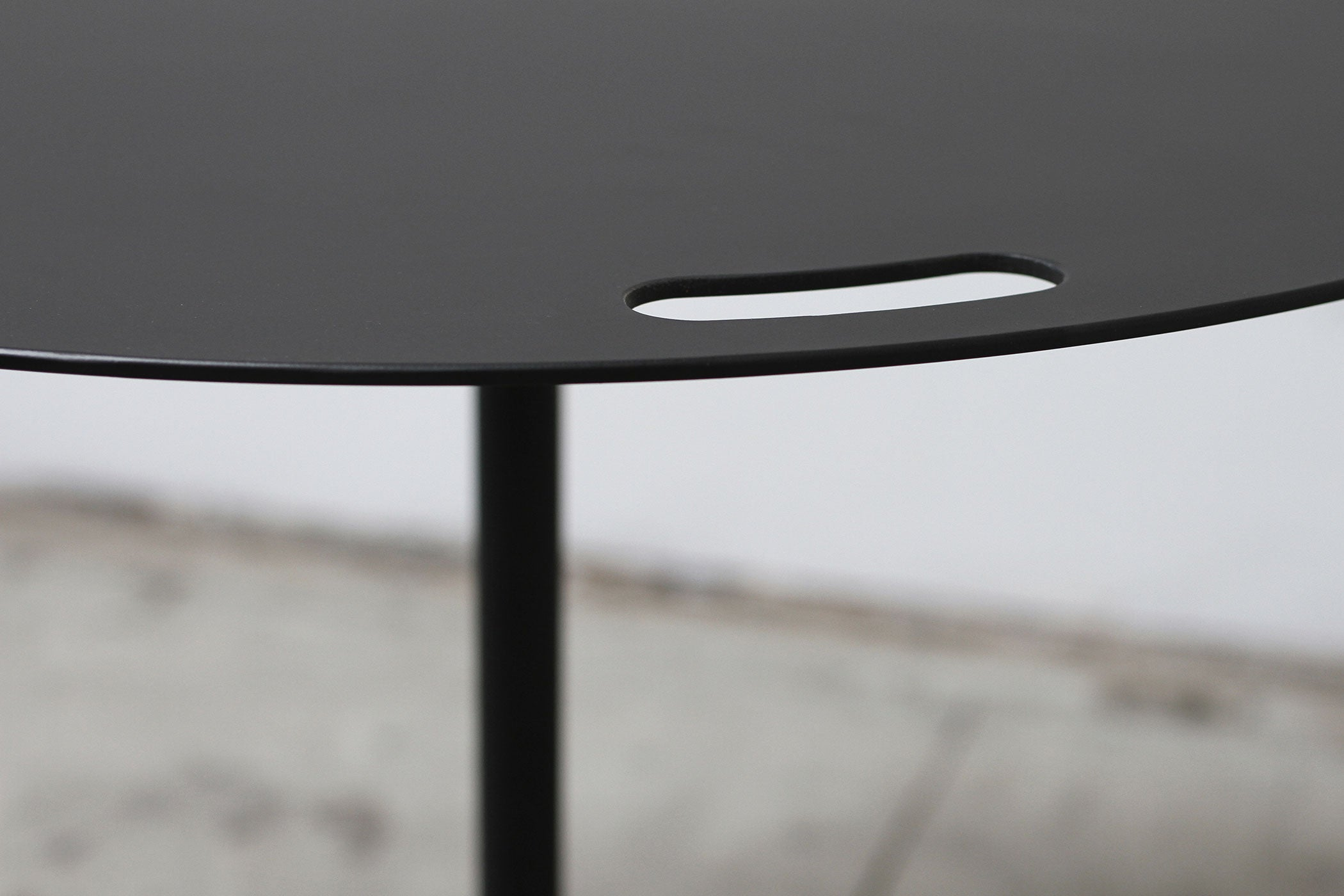 RAD Furniture's Round Aluminum-Top Cafe Table for Four - Detail
