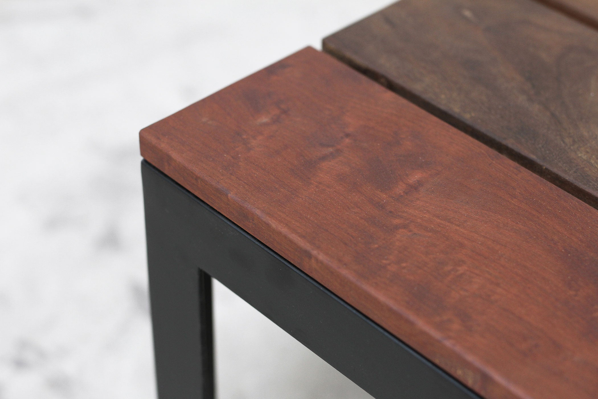 RAD Furniture's Slatted Wood-top Coffee Table - detail