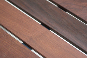 RAD Furniture's Slatted Wood-Top Entry Table - detail