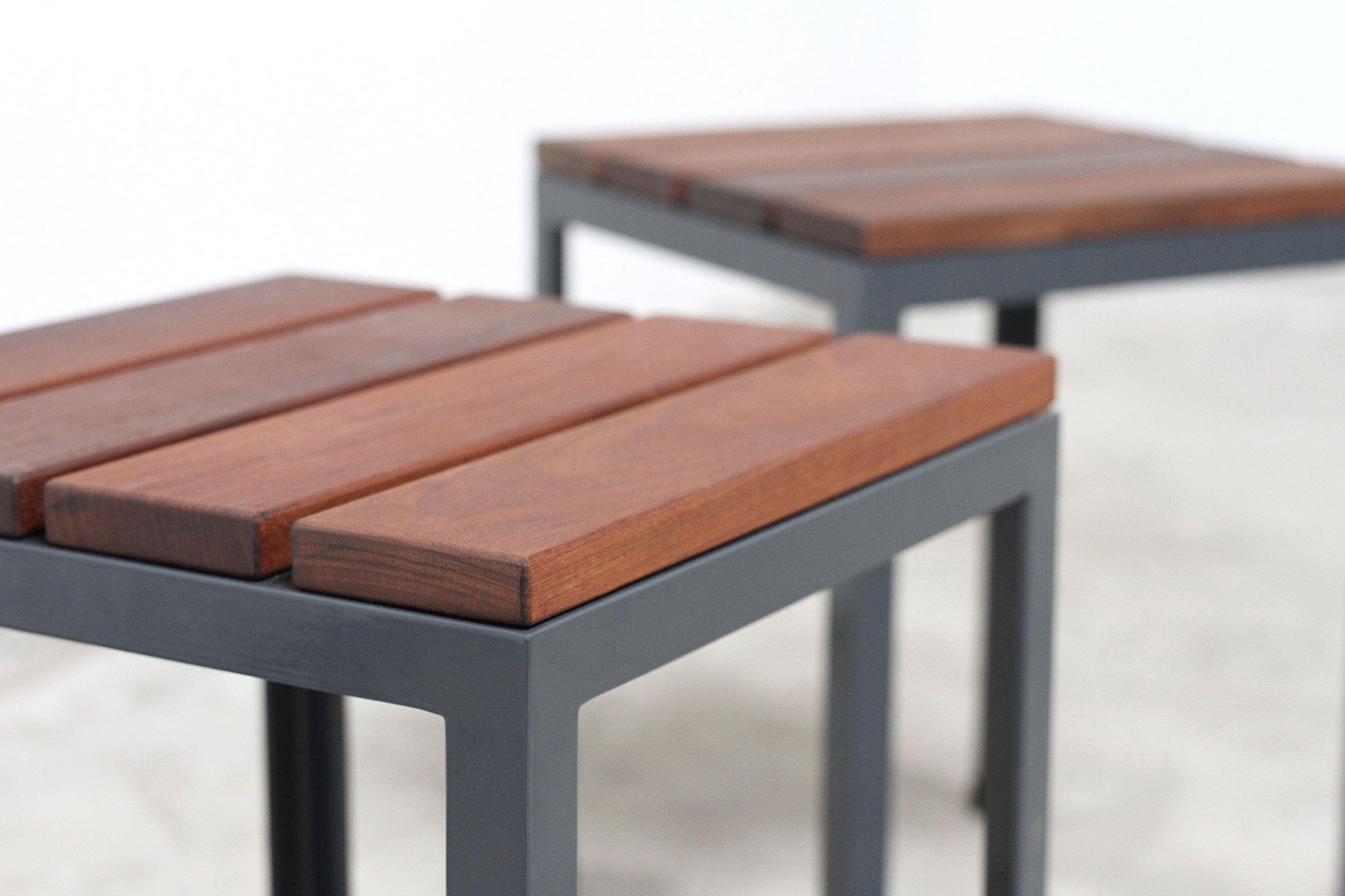 RAD Furniture's Slatted Wood Knockaround Stools - detail