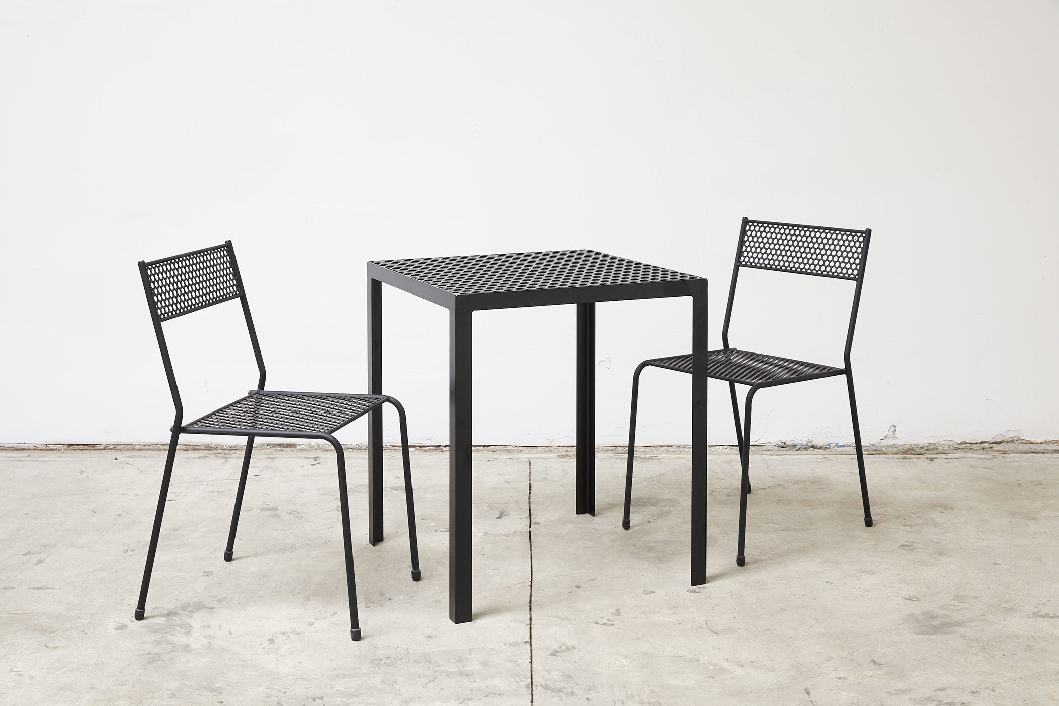 RAD Furniture's Perforated Cafe Table and Perforated Cafe Chairs