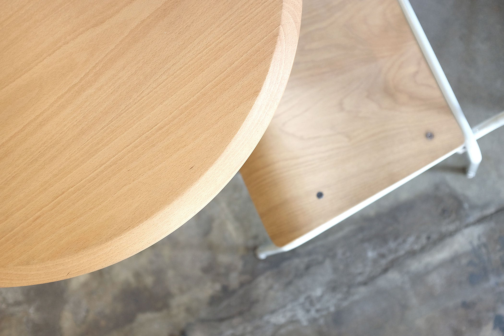 RAD Furniture's Solid Wood-top Round Cafe Table and School Chair