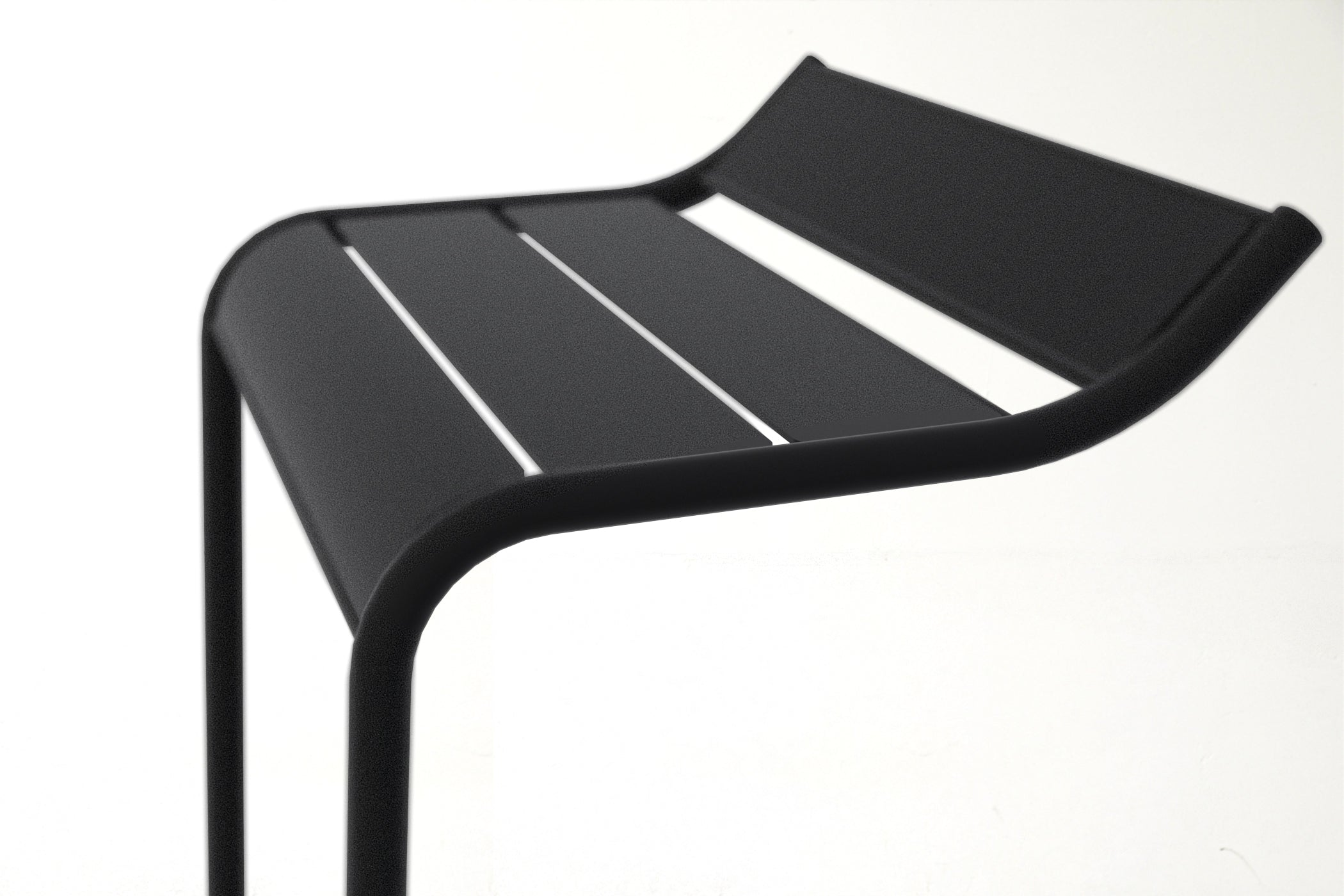 RAD Furniture's Signature Slatted Steel Bar Stool - detail