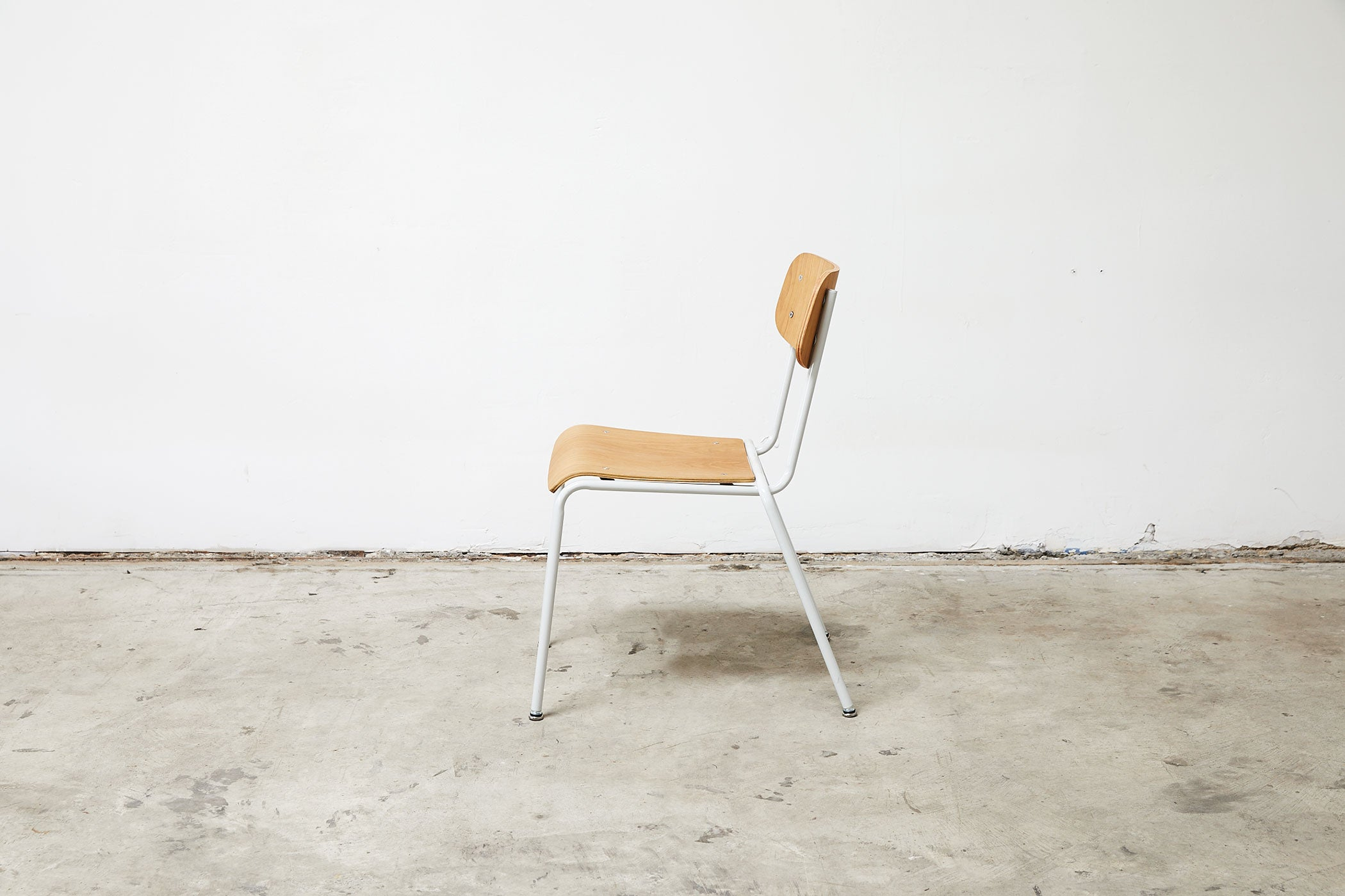 RAD Furniture's School Chair with White Oak - profile