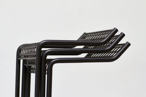 RAD Furniture's Perforated Bar Stool - stacked detail