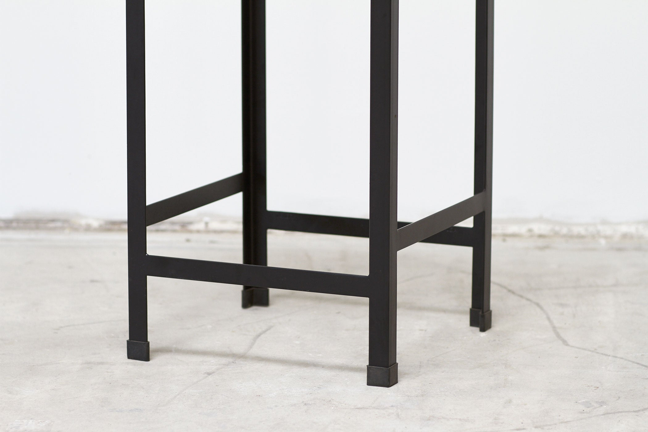 RAD Furniture's Perforated Drop Bar Stool - base detail