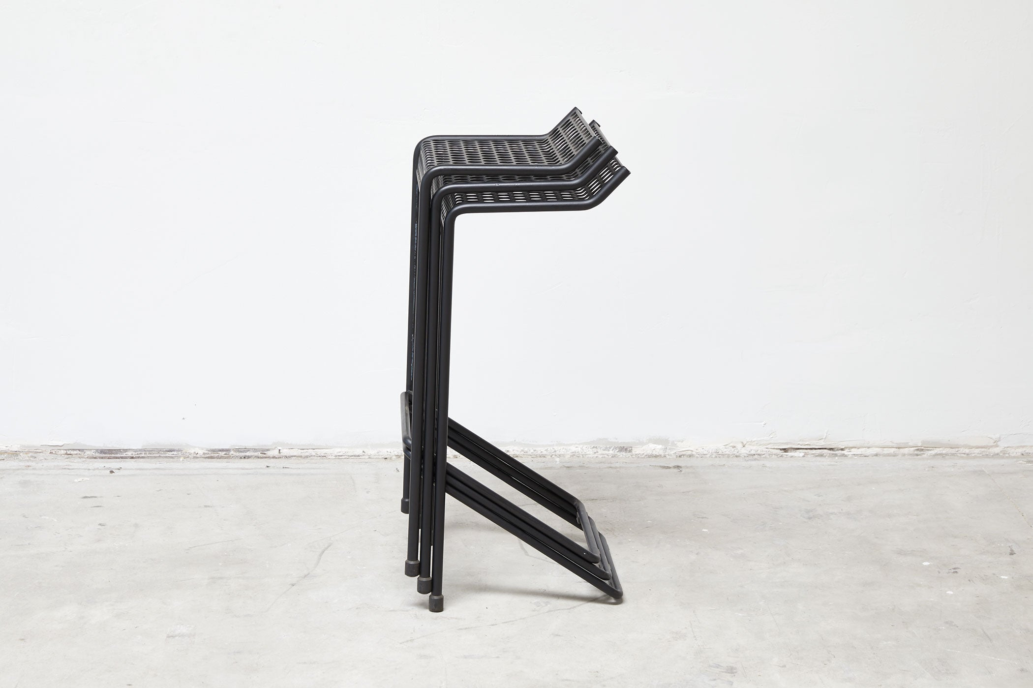 RAD Furniture's Perforated Bar Stool - stacked