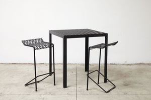 RAD Furniture's Perforated Bar Stool and Perforated Dining Bar-Height Table