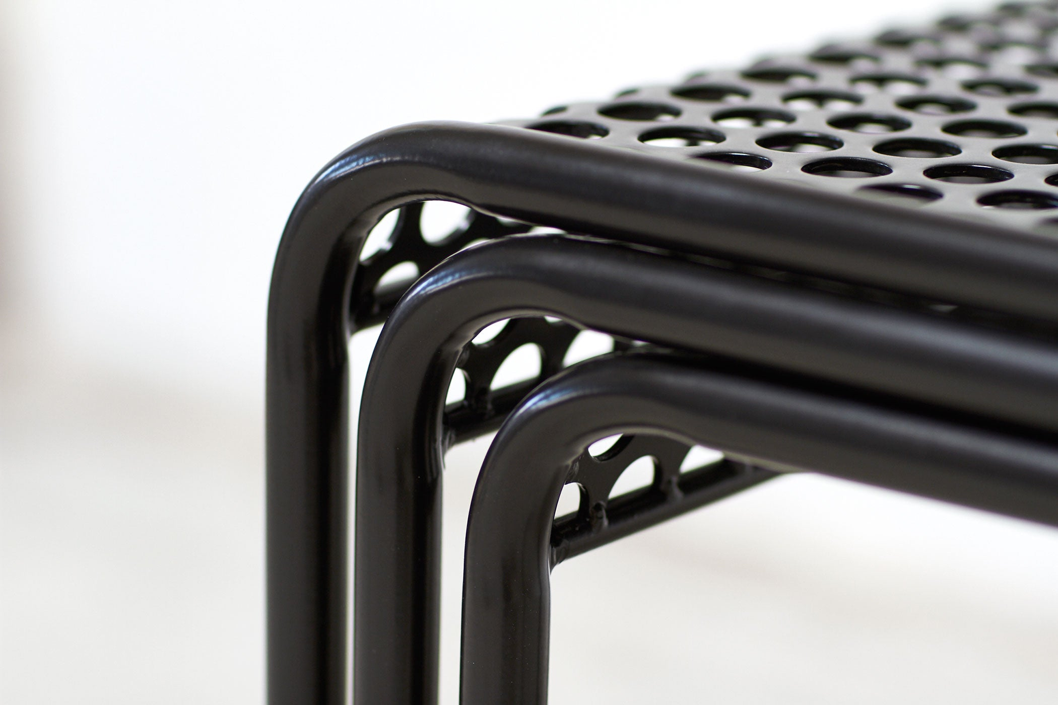 RAD Furniture's Perforated Dining Chair - seat  detail