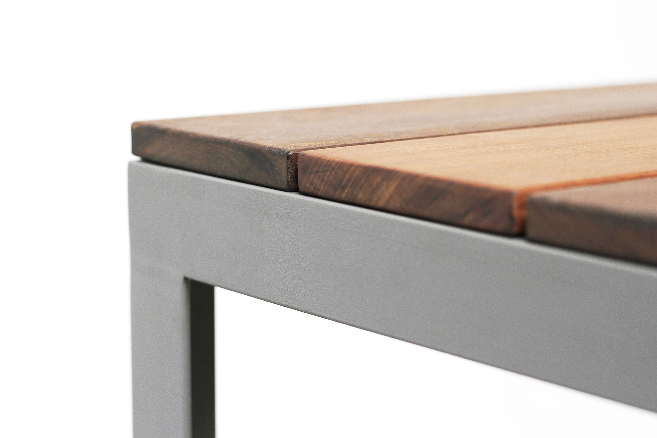 RAD Furniture's Slatted Wood Bench - detail
