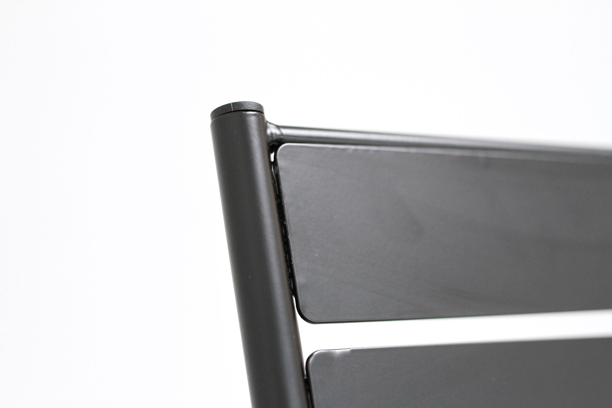 RAD Furniture's Slatted Steel Cafe Chair, Back Detail