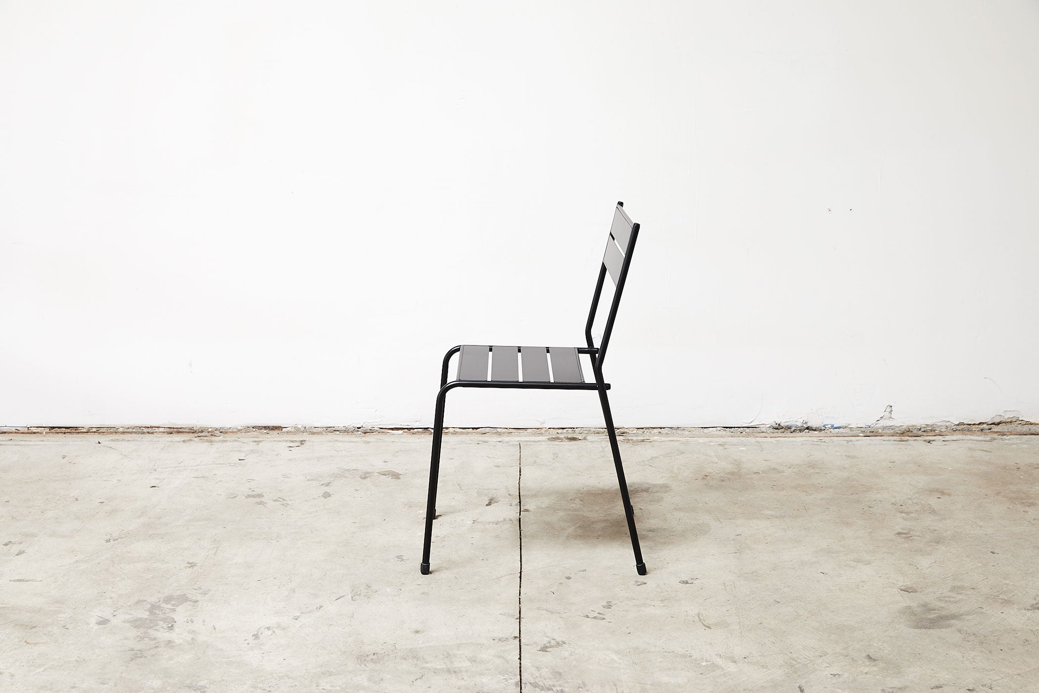 RAD Furniture's Slatted Steel Cafe Chair, Profile