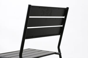 RAD Furniture's Slatted Steel Dining Chair, Back Detail