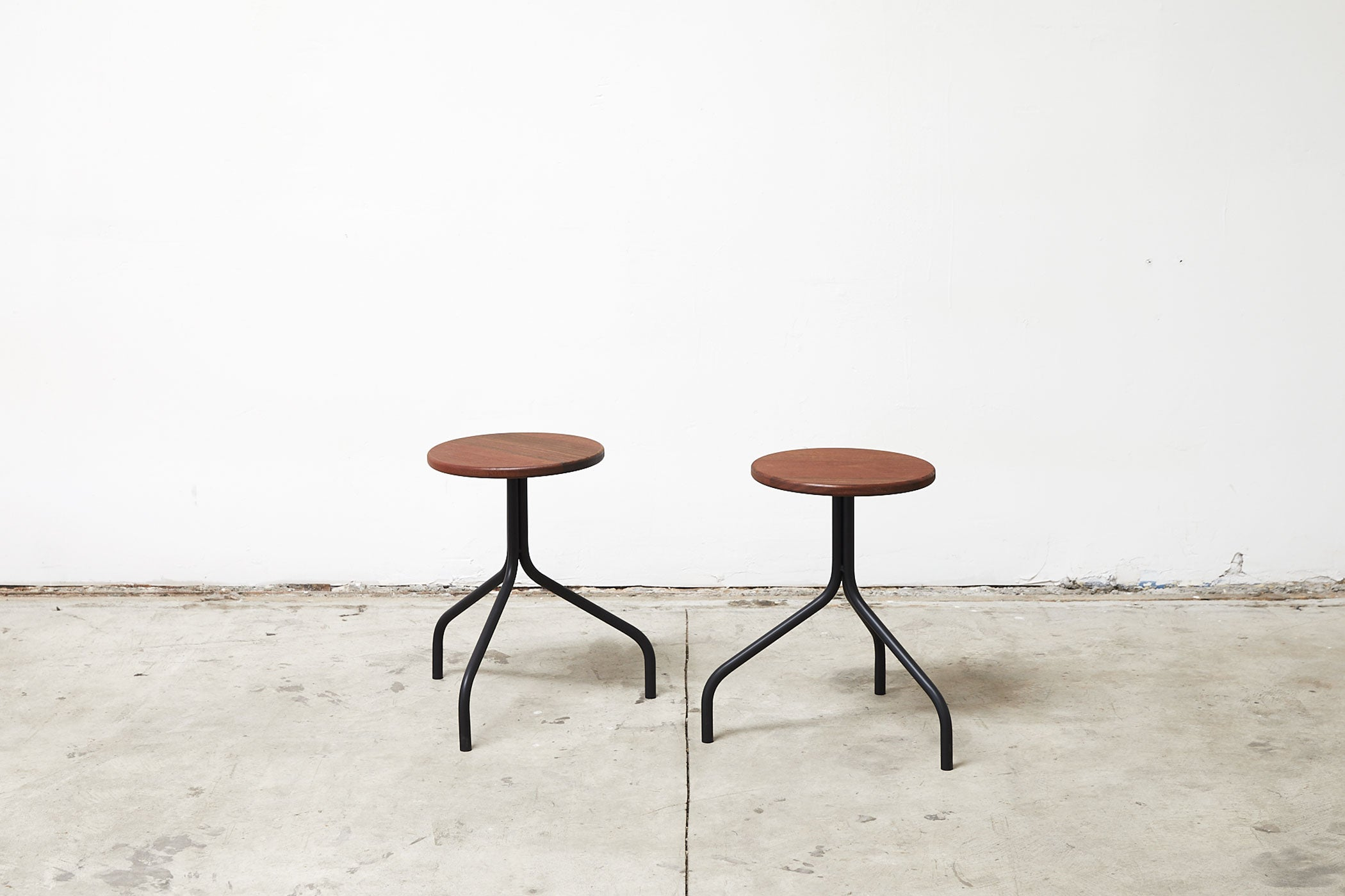 RAD Furniture's Round Wood-top Stools