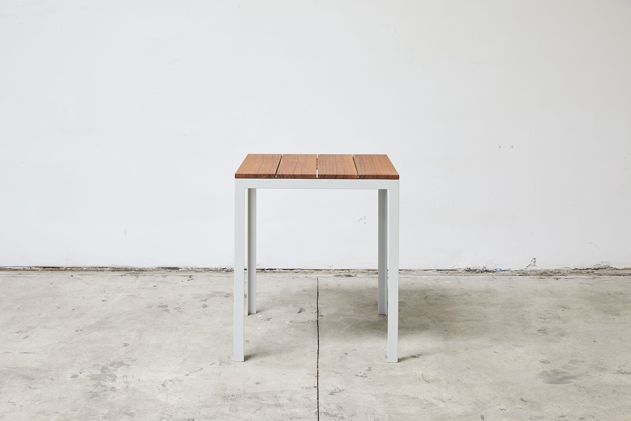 RAD Furniture's Slatted Wood Square Cafe Table