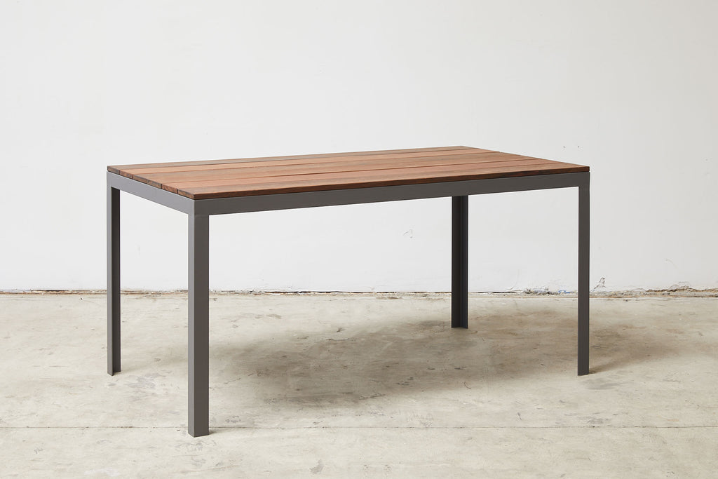 RAD Furniture's Slatted Wood-top Dining Table