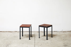 RAD Furniture's Slatted Wood Knockaround Stools - pair
