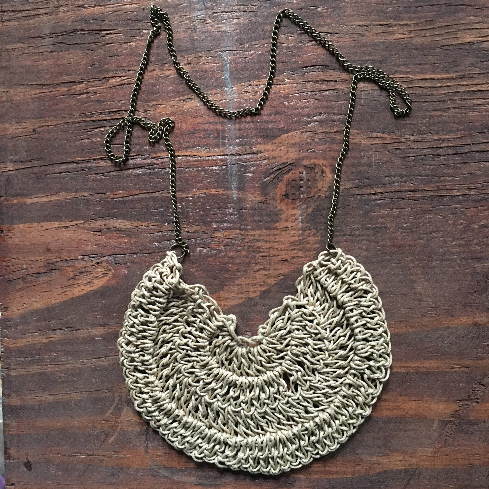 """Sunday Kind of Love"" Crocheted Necklace"