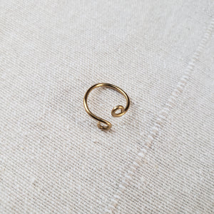 Adjustable Brass Single Spiral Ring