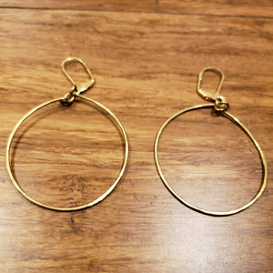 """Round and Round"" Hammered Circular Earrings"