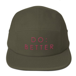 DO:BETTER 5-panel Embroidered Baseball Cap