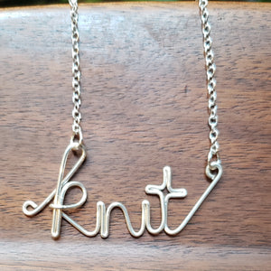 """Knit"" or ""Purl"" or ""Crochet"" or ""Stitch"" Necklace"