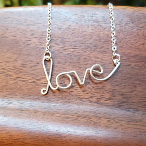 """Love"" Statement Necklace"