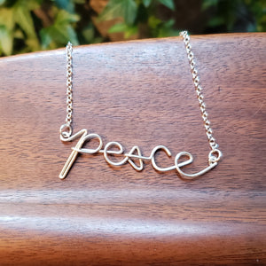 """Peace"" Statement Necklace"
