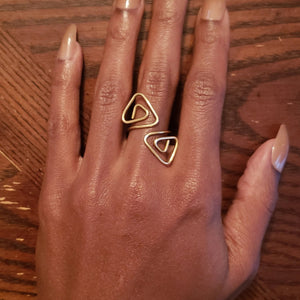 Adjustable Brass Tri-ral Ring